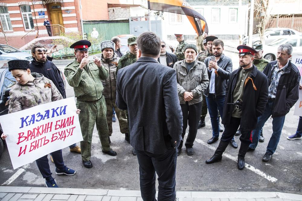 Ряженая путинская шобла  мешала Навальному в Ростове-на-Дону и Краснодаре